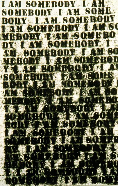 Glenn Ligon, I Am Somebody, 1991