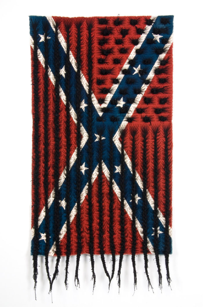 Sonya Clark, Black Hair Flag (2010)