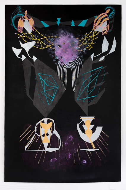 Caroline Kent, Procession, 2015; acrylic on canvas, 6x9 feet. Courtesy the artist.