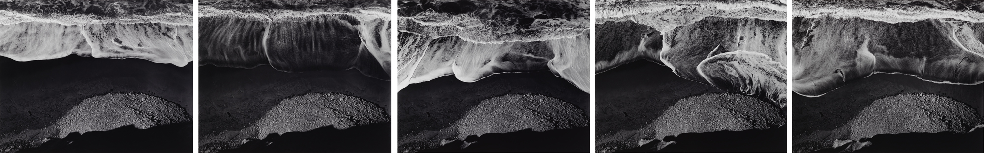 Ansel Adams, Surf Sequence, 1940; promised gift of Launny and Weezie Steffens; © The Ansel Adams Publishing Rights Trust; photo: Don Ross
