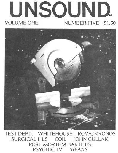 Unsound Vol. 1, No. 5. Courtesy William Davenport.