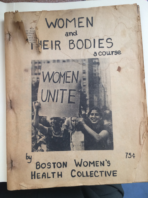 Pamphlet from the women's movement in the 1960s.