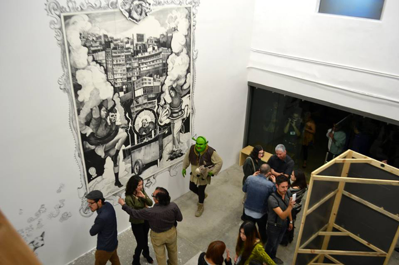 TJ in China Project Space, 2014, Tijuana. After creating the project in Beijing, Daniel Ruanova and partner Mely Barragán brought TJ in China home to Tijuana's Avenida Revolución, where it continued to highlight contemporary art connections between Mexico and China.