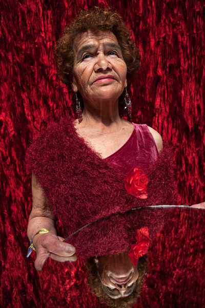 Another image in the 2014 Bénédicte Desrus and journalist Celia Gómez Ramos Creative Time Reports piece. This one features Victoria. At age 81, Victoria is the oldest resident of Casa Xochiquetzal, a shelter for elderly sex workers in Mexico City. Photo by Bénédicte Desrus, 2008.
