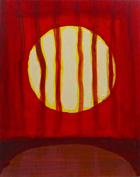 Scott Hewicker, Talkative Sun, 2013; acrylic on panel. Courtesy of the artist.