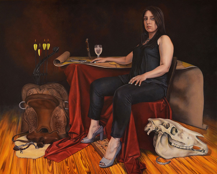 "Amanda Kirkhuff, Hippolyte, 2016; oil on canvas, 61"" x 49""."