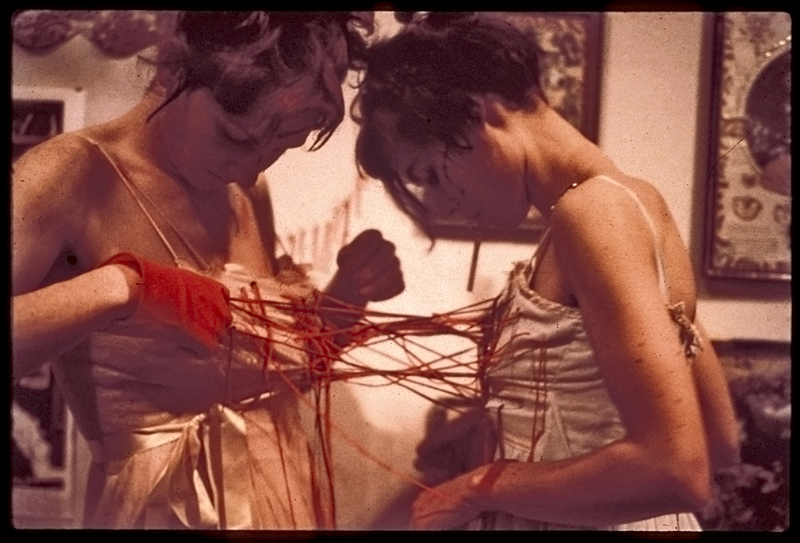 Daughters of Houdini (Zoey Kroll & Ryder Cooley), performance, 1995.