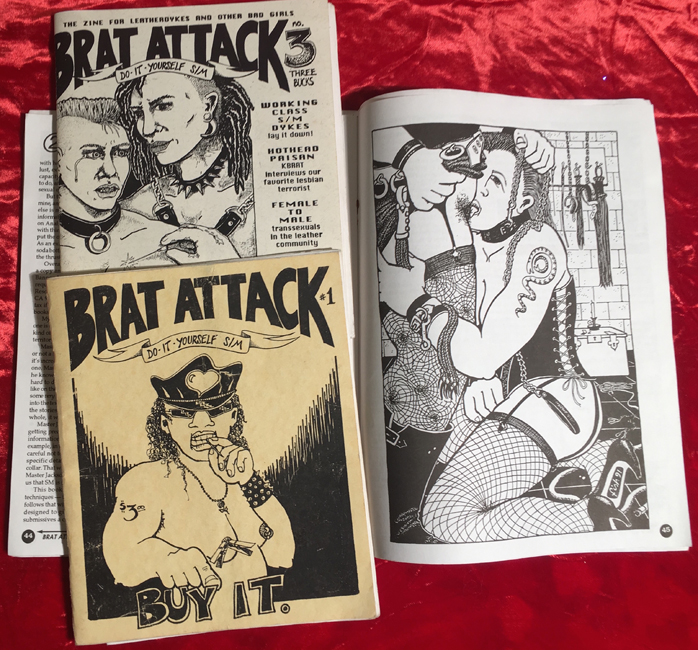 Brat Attack; drawings by Fish.