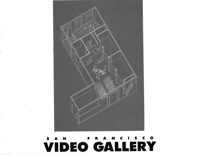 Cover of the architectural prospectus for the final Video Gallery, 1986.