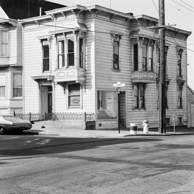 Exterior view of 500 Capp Street, 1976; image courtesy of The 500 Capp Street Foundation.