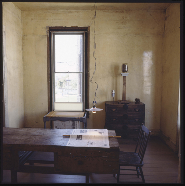 Upstairs black parlor at 500 Capp Street, 1977; photo: David Ireland; image courtesy of The 500 Capp Street Foundation.