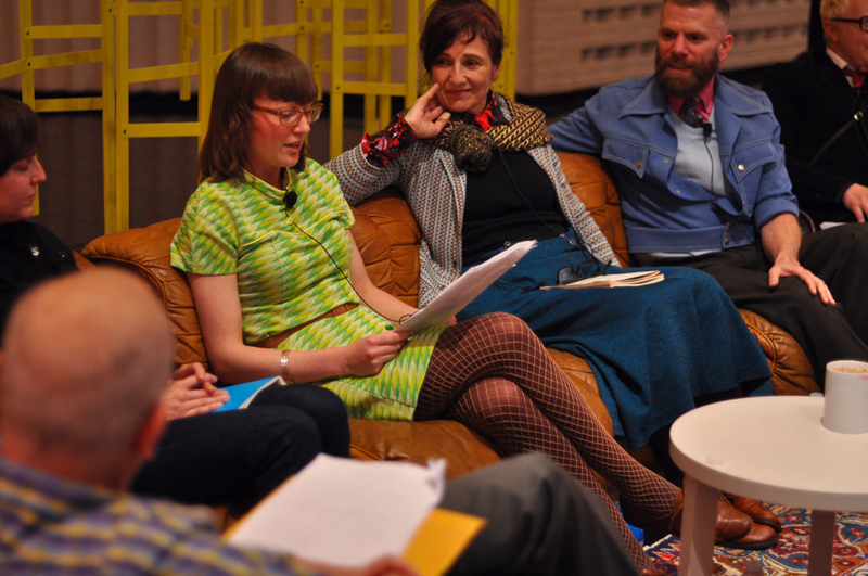 (From left to right) Brynda Glazier, Margaret Tedesco, D-L Alvarez. Photo by Charles Villyard.