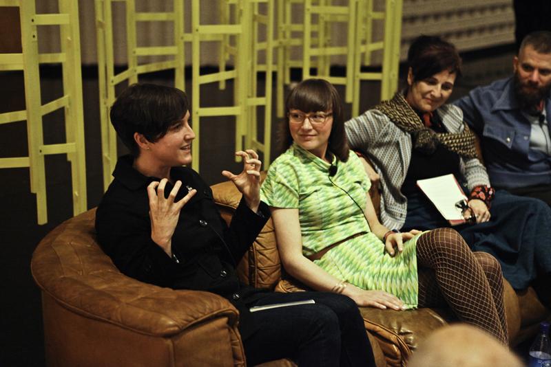 From left to right: Mary Elizabeth Yarborough, Brynda Glazier, Margaret Tedesco, D-L Alvarez. Photo by Charles Villyard.