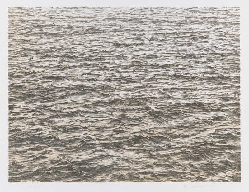Vija Celmins, Untitled (Ocean), from the portfolio Untitled, 1975; lithograph, 12 1/2 in. x 16 1/2 in. (31.75 cm x 41.91 cm); Collection SFMOMA, Purchase; © Vija Celmins.