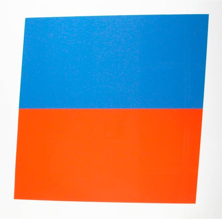Ellsworth Kelly, Blue Red-Orange, 1970-1972