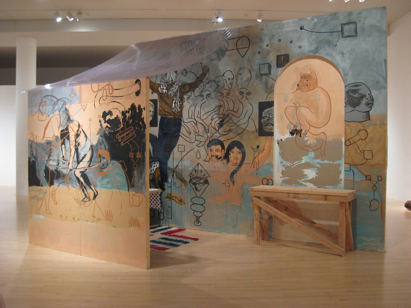 Arturo Ernesto Romo, Rended Facade (mural detail), 2008. From Phantom Sightings: Art after the Chicano Movement, LACMA.