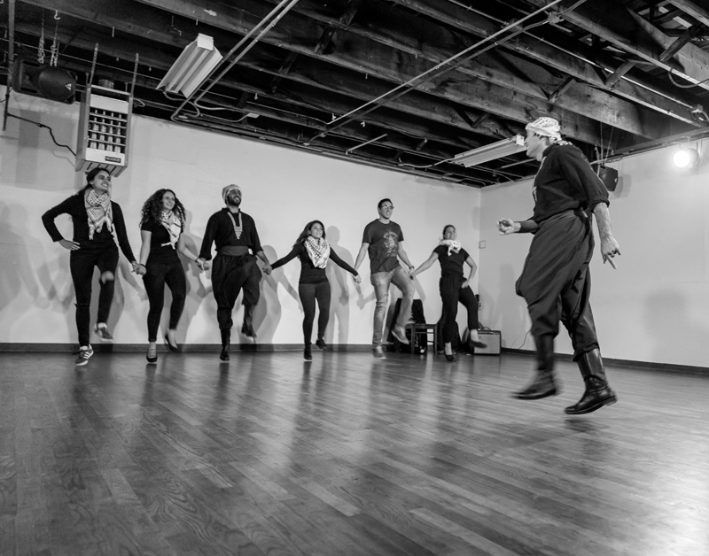 From a Dabke With Us! performance, 2017. Photo: Ricardo Esway.