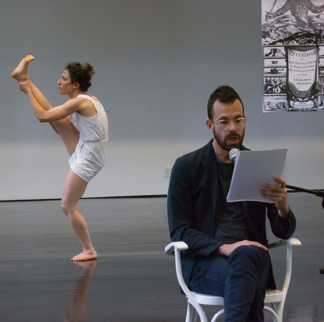 Netta Yerushalmy, left, and David Kishik in Paramodernities #1: The Work of Dance in the Age of Sacred Lives. Photo: Paula Lobo.
