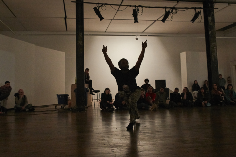 keyon gaskin performing this is an artwork... at The Lab on March 15. Photo: Alexander Girard.