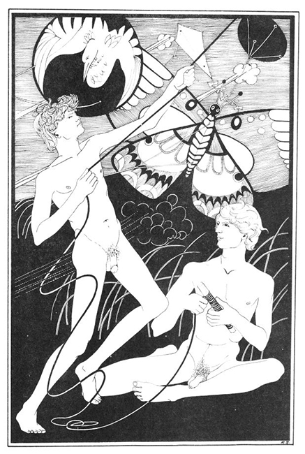 A drawing by Roger Stearns in Sebastian Quill No. 2, 1971. Courtesy Ithuriel's Spear Press.