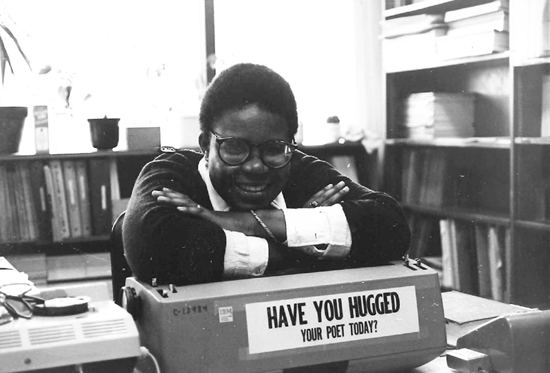 Gabrielle Daniels in 1979, working as a secretary in Stanford University's Engineering Department. Photo courtesy the author.