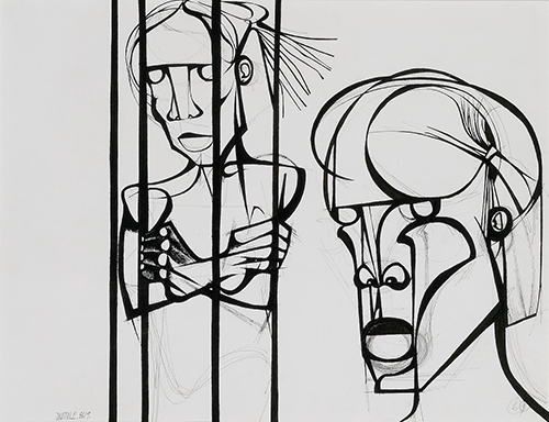 Dumile Feni, The Prisoner, 1968