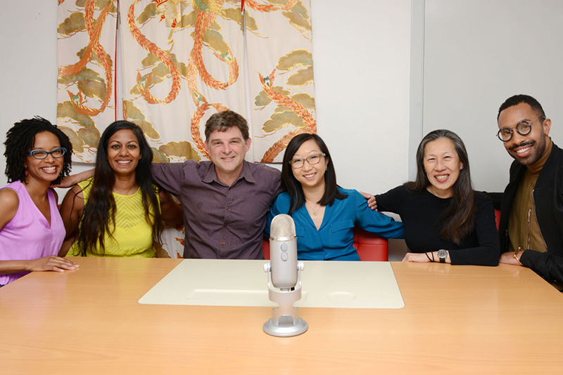 CAST. From left to right: Tyese Wortham, Suneetha Venigalla, Owen Levin, Catherine Nguyen, Moy Eng, Matthew McTire.