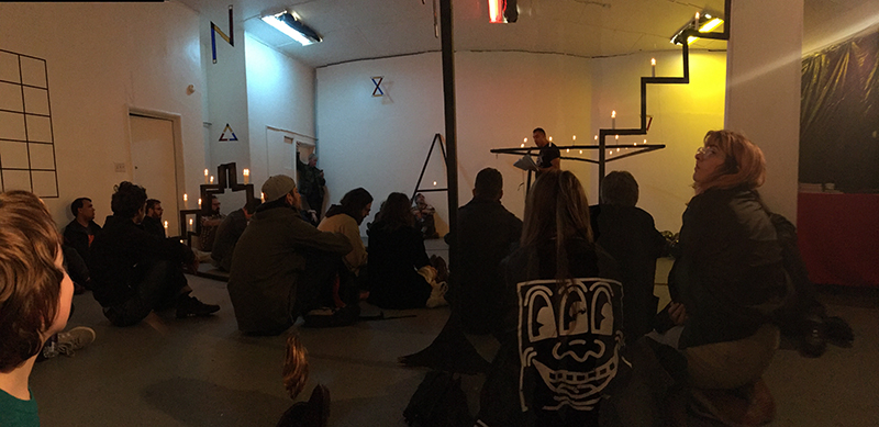 Cedar Sigo and Frank Haines' book release performance at LAND AND SEA, March 4, 2017. All photos: Chris Duncan.