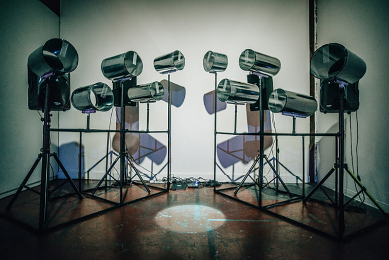 All photos from <em>But Tell Me What It Feels Like</em> at SOMArts Cultural Center, May 4, 2018, unless otherwise noted. Above: Leviathe,<em>Tendercunt</em>, 2018; sound installation.Photo: Robbie Sweeny.