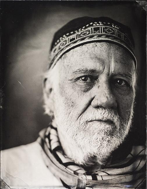 A tintype portrait, ca. 2016.