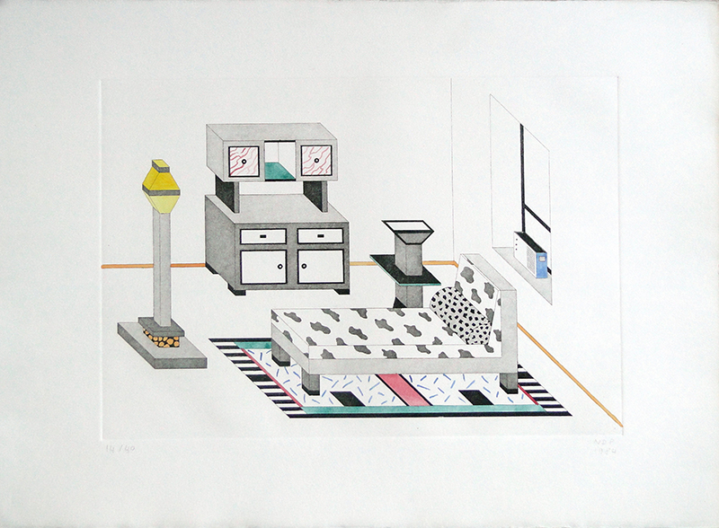 Nathalie du Pasquier, Room with Radio, 1984