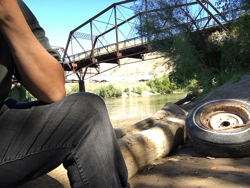 Stacy Szymaszek by the Clark Fork River.
