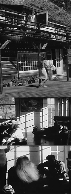 Frame grab sequence from ruth weiss' film, The Brink (1961). Courtesy of the Berkeley Art Museum/Pacific Film Archive.