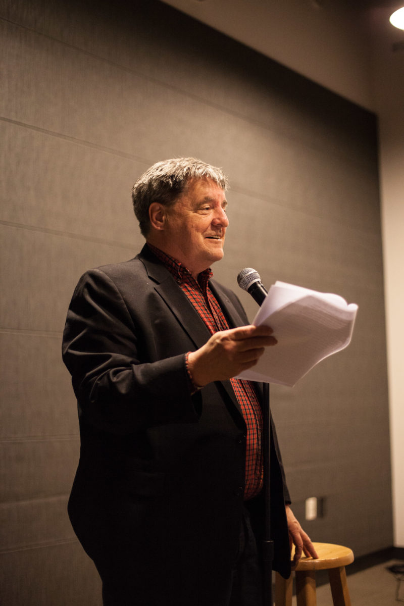 "Kevin Killian performing at ""A Funny Thing Happened on the Way to the Museum"" in 2013. Photo: Keith Baker."