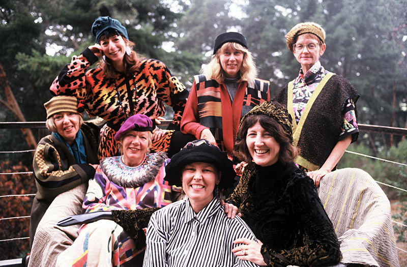 Group 9, ca. 1991. Left to right, back: Jean Cacicedo, Janet Lipkin, Ana Lisa Hedstrom, Gaza Bowen. Front: K. Lee Manuel, Candace Kling, Marian Clayden. Not pictured: Ina Kozel, Marika Contompasis.