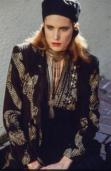 Marian Clayden, Ensemble with Toaster-Print Coat, ca. 1986