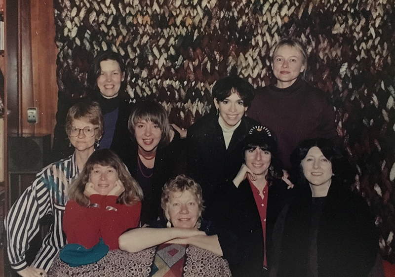 Group 9 in 1987. In the background is a fiber wall hanging by Marian Clayden from the mid-1970s.