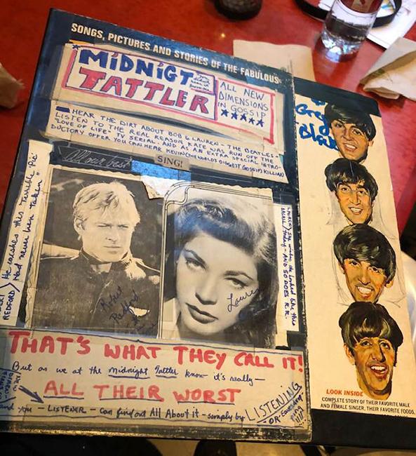 Kevin Killian's Midnight Tattler tabloid. Photo: Sam Ace.