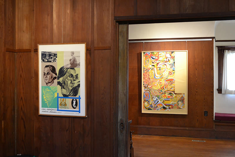 All images: Artwork by Robert Duncan on display at the Jess-Kael House in Berkeley, CA. Duncan image permission provided by the Jess Collins Trust.