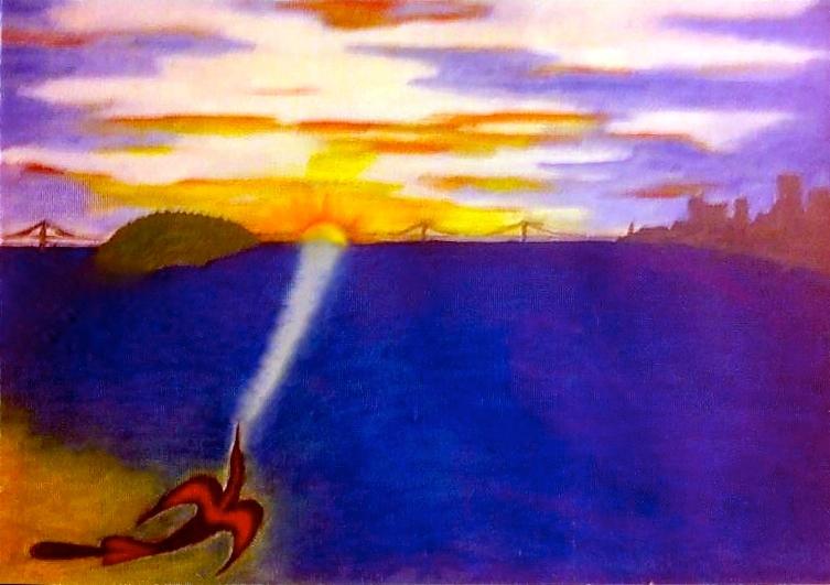 LaNada War Jack, Sunrise on Alcatraz, 1970