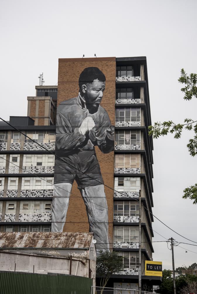 Lewis Watts, Mural of Nelson Mandela, Johannesburg, 2015