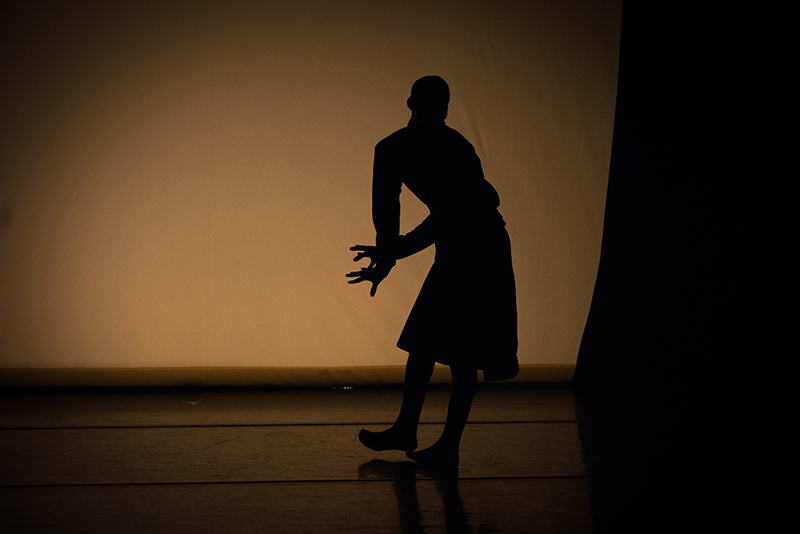 Frankie Lee performing in Dazaun Soleyn's (Study)one, which had its premiere in Signals from the West. Photo: Hillary Goidell.