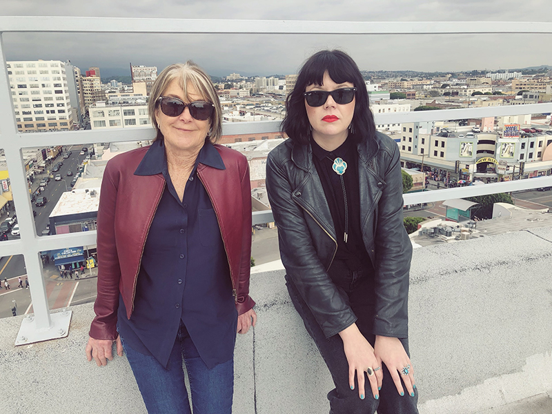 The author and Suzanne Lacy, on the set of our shoot in downtown LA, March 2019.