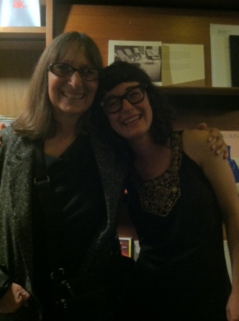 Norma and Sara after their poetry reading at Berkeley Art Museum/Pacific Film Archive, in 2012.