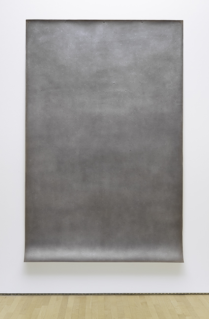 Michelle Stuart, Zacaba, 1979. Graphite and earth on paper mounted on muslin. Purchase, by exchange, through a gift of Peggy Guggenheim © Michelle Stuart. Photographer: Katherine Du Tiel