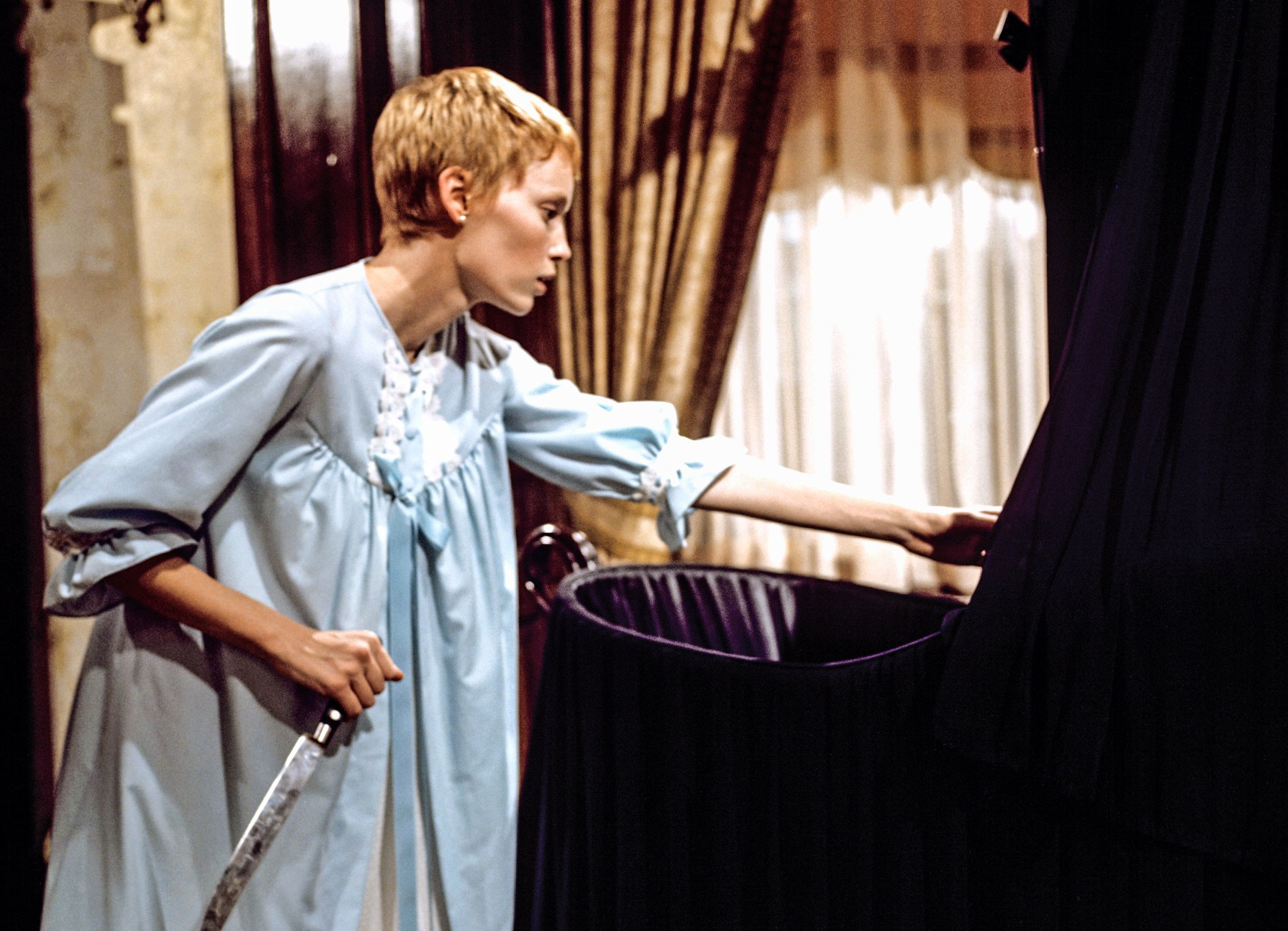 Still from Rosemary's Baby (Polasnki, 1968).