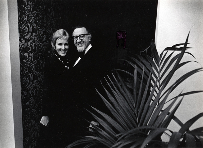 Carol Lindsley and Reese Palley, ca. 1969.