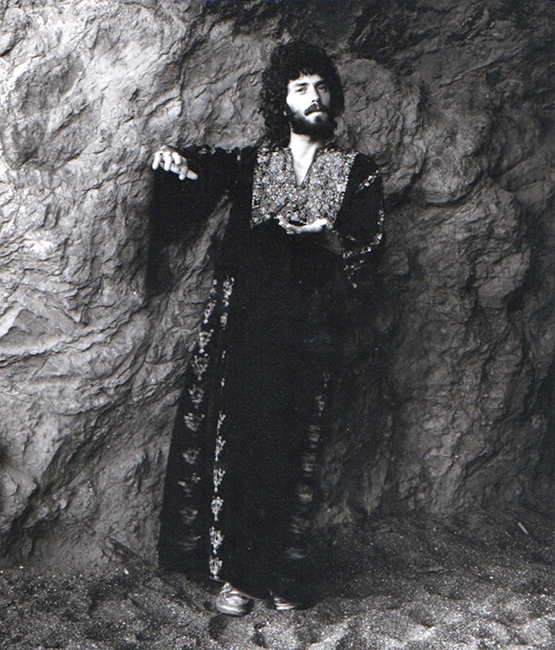 Aaron Shurin at Land's End, 1976. Photo by Marshall Rheiner.