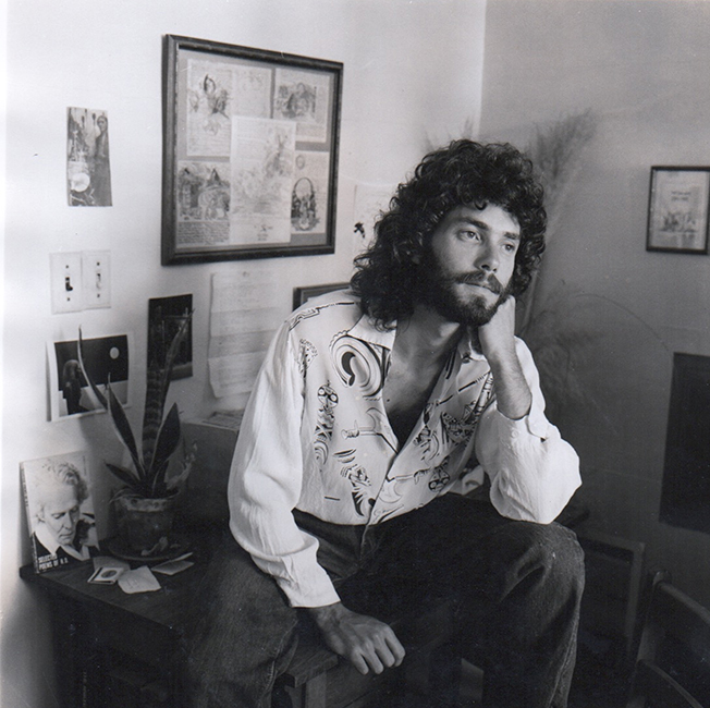 Aaron Shurin at home in the Haight, 1976. Photo by Marshall Rheiner.