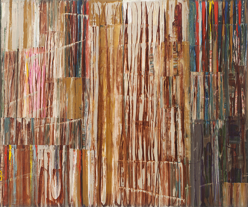 Mike Henderson, As It Is Now, 2017; oil on canvas, 72 x 87 inches. Courtesy of the artist and Haines Gallery, San Francisco.